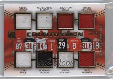 2015-16 Leaf In the Game Used - Countrymen - Gold #C-03 - Sidney Crosby, Marc-Andre Fleury, Jonathan Toews, Steven Stamkos, Carey Price, Roberto Luongo, Drew Doughty, John Tavares /15