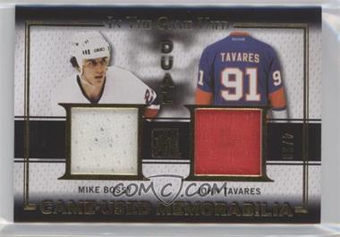 2015-16 Leaf In the Game Used - Game-Used Memorabilia Dual - Gold #GD-17 - Mike Bossy, John Tavares /20