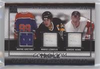 Wayne Gretzky, Mario Lemieux, Gordie Howe #/30