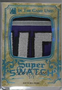 2015-16 Leaf In the Game Used - Super Swatch - Blue Spectrum Patch #SSP-03 - Arturs Irbe /2 [Noted]