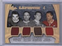 Robert Fillion, Dutch Hiller, Maurice Richard, Doug Harvey /2
