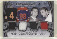 Bobby Orr, Wayne Gretzky, Bobby Hull, Maurice Richard #/12