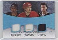 Ray Bourque, Nicklas Lidstrom, Paul Coffey #/8