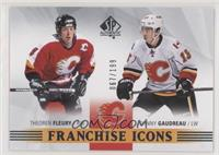 Franchise Icons - Theoren Fleury, Johnny Gaudreau #/199