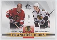 Franchise Icons - Bobby Hull, Jonathan Toews #/199