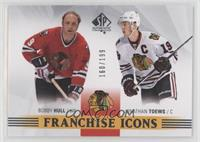 Franchise Icons - Bobby Hull, Jonathan Toews #160/199