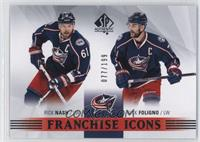 Franchise Icons - Rick Nash, Nick Foligno #/199