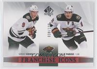 Franchise Icons - Mikko Koivu, Zach Parise #/199