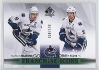 Franchise Icons - Markus Naslund, Henrik Sedin [Noted] #/199