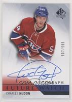 Future Watch Autographs - Charles Hudon #/999