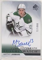 Future Watch Autographs - Mattias Janmark #/999