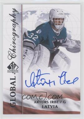 2015-16 SP Authentic - Global Chirography #LAT-AI - Arturs Irbe