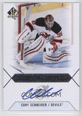 2015-16 SP Authentic - Scripted Stoppers #SS-CS - Cory Schneider