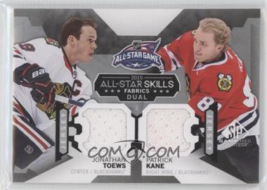 2015-16 SP Game-Used - 2015 All-Star Skills Fabrics Duals #AS2-13 - Jonathan Toews, Patrick Kane