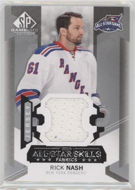 2015-16 SP Game-Used - 2015 All-Star Skills Fabrics #AS-28 - Rick Nash