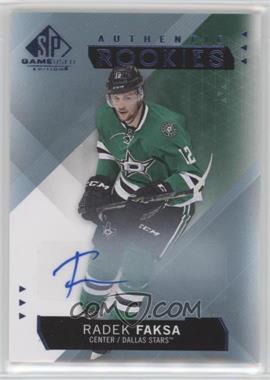 2015-16 SP Game-Used - [Base] - Blue Autographs [Autographed] #183 - Authentic Rookies - Radek Faksa