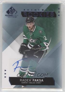 2015-16 SP Game-Used - [Base] - Blue Autographs [Autographed] #183 - Authentic Rookies - Radek Faksa