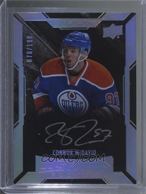2015-16 UD Black - [Base] #85 - Lustrous Rookies Signatures - Connor McDavid /199