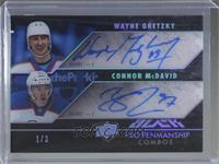 Wayne Gretzky, Connor McDavid [EX to NM] #/3