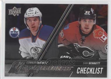2015-16 Upper Deck - [Base] - Silver Foil Board #250 - Young Guns Checklist - Connor McDavid, Sam Bennett