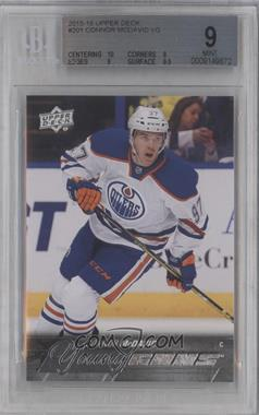 2015-16 Upper Deck - [Base] #201 - Young Guns - Connor McDavid [BGS 9 MINT]