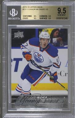 2015-16 Upper Deck - [Base] #201 - Young Guns - Connor McDavid [BGS 9.5 GEM MINT]