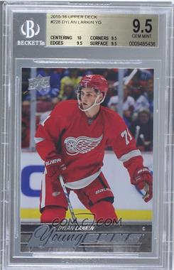 2015-16 Upper Deck - [Base] #228 - Young Guns - Dylan Larkin [BGS 9.5]