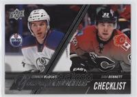 Young Guns Checklist - Connor McDavid, Sam Bennett