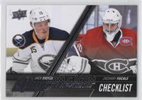 Young Guns Checklist - Jack Eichel, Zachary Fucale