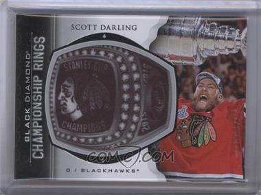 2015-16 Upper Deck Black Diamond - Championship Rings #CR-SD - Scott Darling