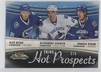 Hot Prospects Trios - Alex Biega, Alexandre Grenier, Andrey Pedan #/5