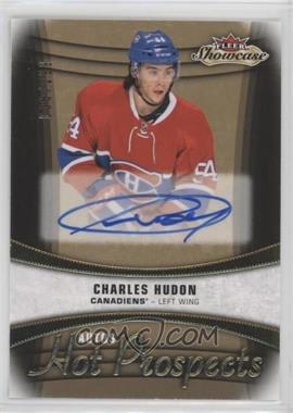 2015-16 Upper Deck Fleer Showcase - [Base] #132 - Hot Prospects Autos - Charles Hudon /299