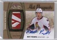 Hot Prospects Auto Patch - Matt Puempel /499