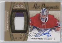 Hot Prospects Auto Patch - Zachary Fucale /499