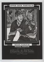 Rookie Black & White Art - Noah Hanifin