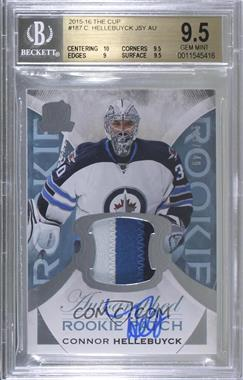 2015-16 Upper Deck The Cup - [Base] #187 - Rookie Patch Autograph - Connor Hellebuyck /249 [BGS 9.5 GEM MINT]