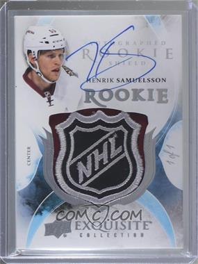 2015-16 Upper Deck The Cup - Exquisite Collection Rookie Autograph - Shield #109 - Henrik Samuelsson /1