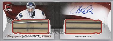 2015-16 Upper Deck The Cup - Monumental Sticks Autographed Booklets #AMS-RM - Ryan Miller /20