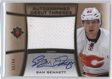2015-16 Upper Deck Ultimate Collection - Autographed Debut Threads #ADT-SB - Sam Bennett /99