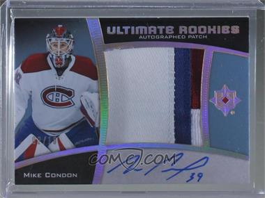 2015-16 Upper Deck Ultimate Collection - [Base] - Spectrum Gold Autographed Patch [Autographed] [Memorabilia] #84 - Ultimate Rookies Auto Patch - Mike Condon /10 [Noted]
