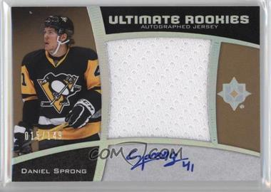 2015-16 Upper Deck Ultimate Collection - [Base] - Spectrum Silver Autographed Jersey [Autographed] [Memorabilia] #106 - Ultimate Rookies Auto Jersey - Tier 1 - Daniel Sprong /149