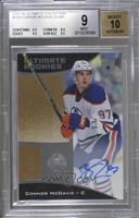 Autographed Ultimate Rookies - Tier 2 - Connor McDavid /99 [BGS 9 MIN…