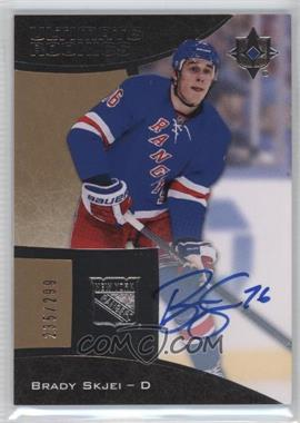 2015-16 Upper Deck Ultimate Collection - [Base] #87 - Autographed Ultimate Rookies - Tier 1 - Brady Skjei /299