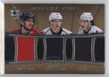2015-16 Upper Deck Ultimate Collection - Material Trios #MC3-WAS - Alexander Ovechkin, Nicklas Backstrom, T.J. Oshie
