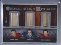 Gordie Howe, Red Kelly, Norm Ullman #/40
