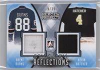Brent Burns, Kevin Hatcher #/25