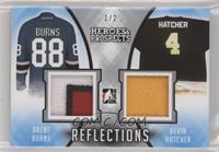Brent Burns, Kevin Hatcher #/2