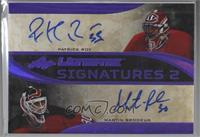 Patrick Roy, Martin Brodeur [Noted] #/4