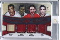 Gordie Howe, Alex Delvecchio, Terry Sawchuk, Ted Lindsay [Uncirculated] #/3