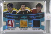 Marcel Dionne, Phil Esposito, Bobby Clarke [Uncirculated] #/5
